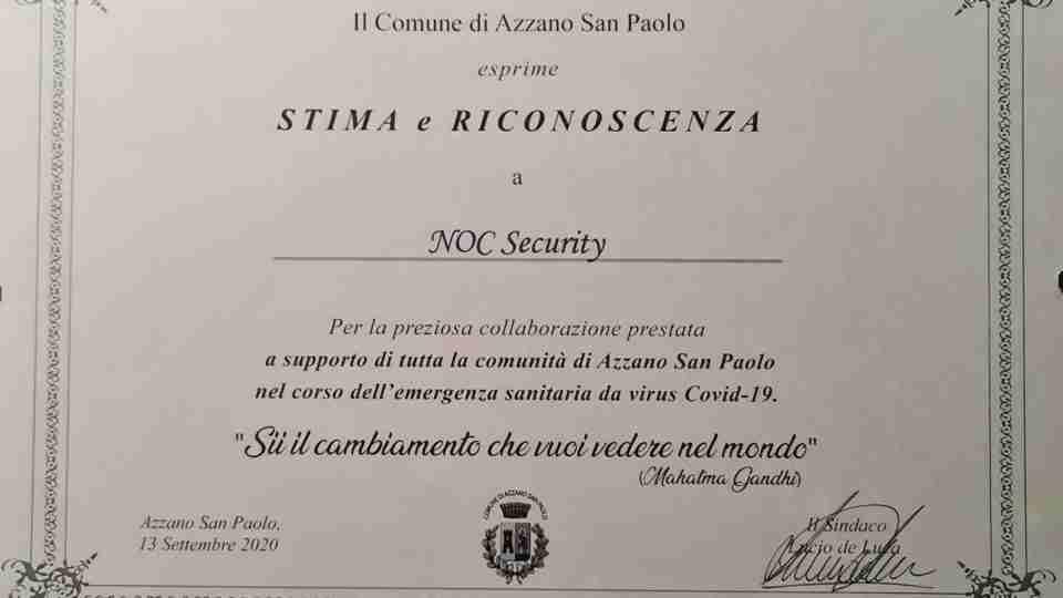NOC security Vigilanza Bergamo